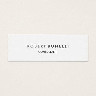 Linen Paper Slim Skinny Modern Business Card