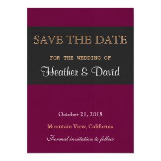 "Linen Save the Date Wedding Love Invitation 5.5"" X 7.5"" Invitation Card"