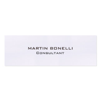 Linen Special Unique Clear Consultant Modern Pack Of Skinny Business Cards