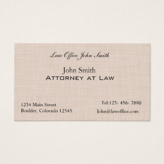 Linen texture pattern business card