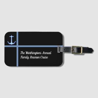 Liner Anchor Custom Family Cruise Luggage Tag