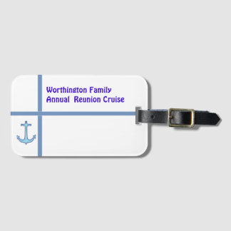 Liner Anchor Group Cruise Custom Luggage Tag