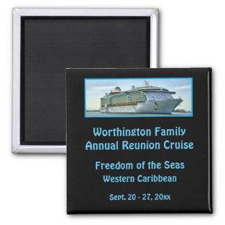 Liner Cruise Ship RFNB1 Black Custom Square Magnet