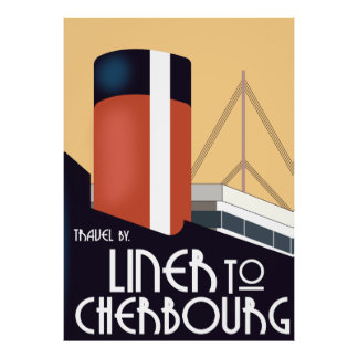 Liner to Cherbourg Poster