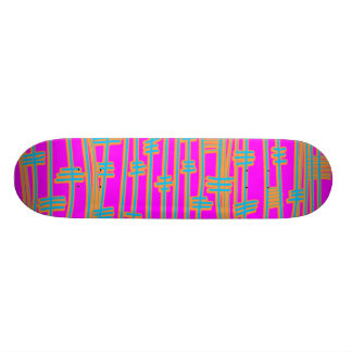 Lines Abstract - Retro 21.6 Cm Old School Skateboard Deck