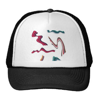 Lines and ribbons graphics design trucker hats