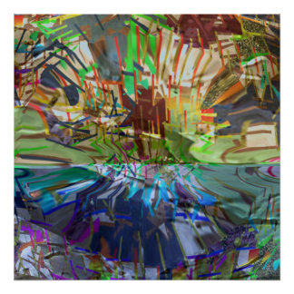 Lines and spaces Abstract Artistic Creation Poster
