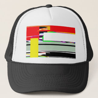 Lines and squares trucker hat