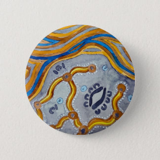 Lines - Authentic Aboriginal Arts 6 Cm Round Badge