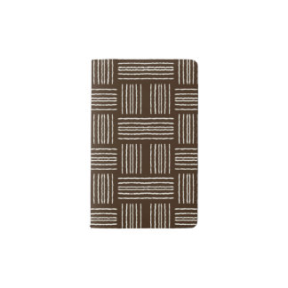 Lines Brown Decorative Designer Modern Journal