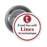 Lines Button - Design 1 (White)