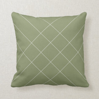 Lines clear olive greenness cushion