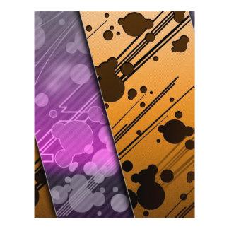 Lines Color Stripes Patterns Orange and Purple 21.5 Cm X 28 Cm Flyer