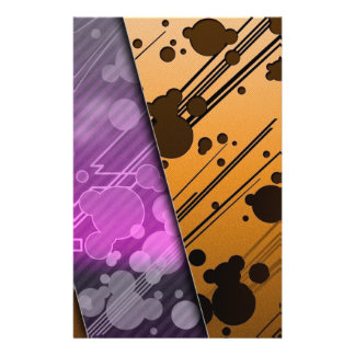 "Lines Color Stripes Patterns Orange and Purple 5.5"" X 8.5"" Flyer"