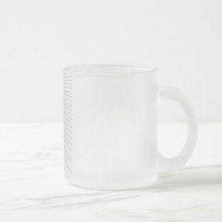 Lines Frosted Glass Mug