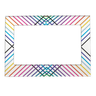 Lines in Rainbow Magnetic Picture Frame