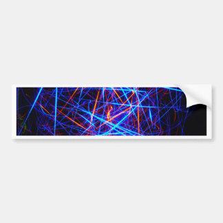 Lines In Three Dimensions Bumper Sticker