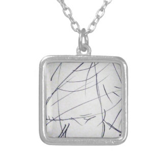 Lines of a Samurai Silver Plated Necklace