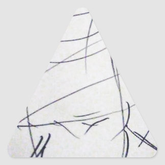 Lines of a Samurai Triangle Sticker