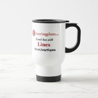 Lines Travel/Commuter Mug (White)
