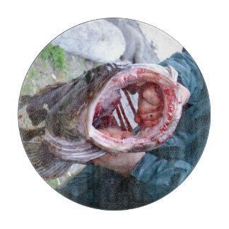 Ling cod glass cutting board