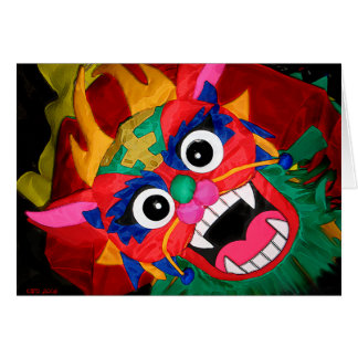 Ling-fu dragon greeting card