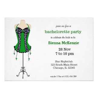 Lingerie Bachelorette Party Personalized Announcements