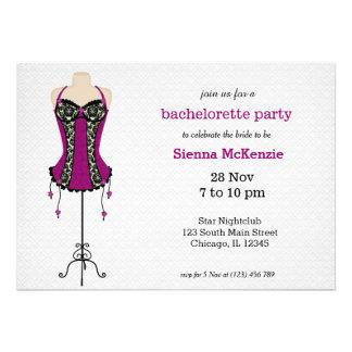 Lingerie Bachelorette Party Invitation