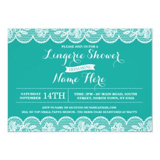 Lingerie Bridal Shower Elegant Lace Invitation