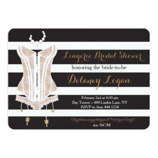 "Lingerie Bridal Shower Invitation 5"" X 7"" Invitation Card"