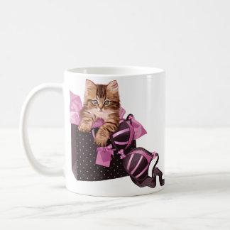 Lingerie Kitten Coffee Mugs