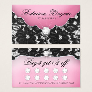Lingerie Loyalty Card Lace Pink Jewellery