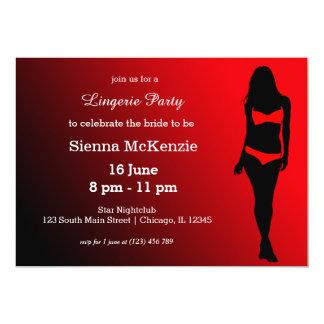 Lingerie party 13 cm x 18 cm invitation card