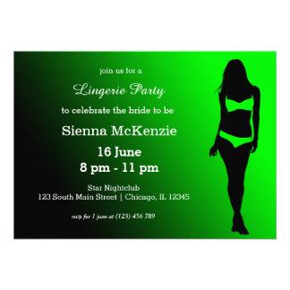 Lingerie party card