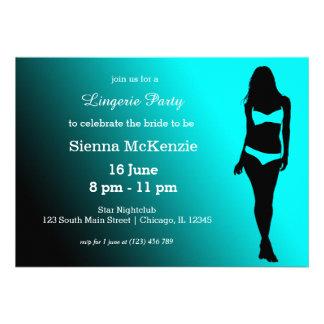 Lingerie party custom invitation