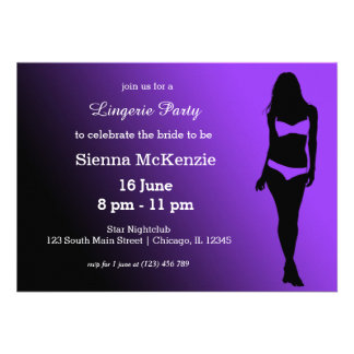 Lingerie party personalized invites