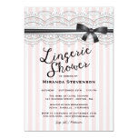 "Lingerie Shower Chic Lace Garter Party Invitation 5"" X 7"" Invitation Card"
