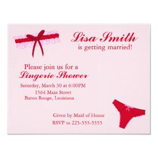 Lingerie Shower 11 Cm X 14 Cm Invitation Card
