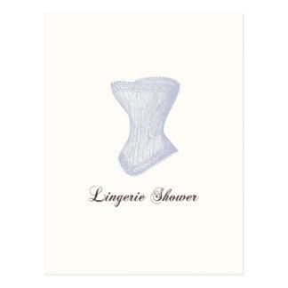 Lingerie Shower Postcard