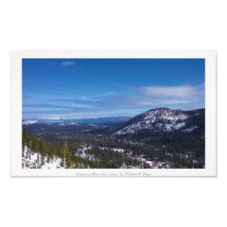 """Lingering Above Lake Tahoe,"" Nature Photo Art"