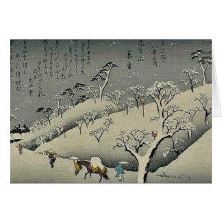 Lingering snow at Asukayama by Ando, Hiroshige Card