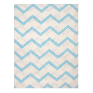 linhas azuis em zig zag cartões postais