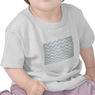 linhas azuis em zig zag camisetas