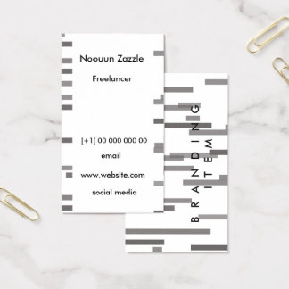 Lining up business card