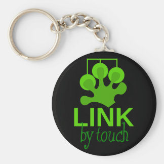 link by touch basic round button key ring