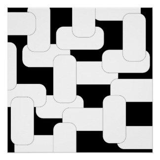 Linked Black & White Poster
