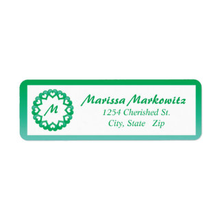 Linked by Love Green Return Address Labels