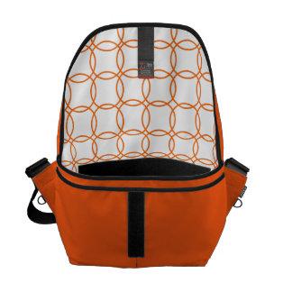 Linked circles in Orange Messenger Bag