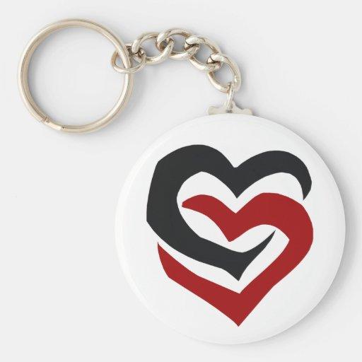 Linked Hearts Keychain