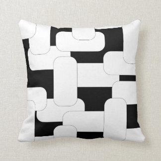 Linked White & Black Cushion